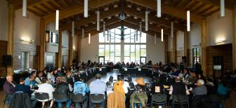 First Nation leaders and citizens at the Council of Yukon First Nations General Assembly (Photo: Alistair Maitland)