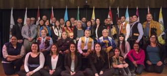 Elders and youth joined Yukon government and First Nation leaders at the Yukon Forum in January 2017. This Forum between the Yukon and First Nations governments was focused on reconciliation, collaboration and building a strong relationship between the Yukon and First Nation governments. (Photo: Government of Yukon)